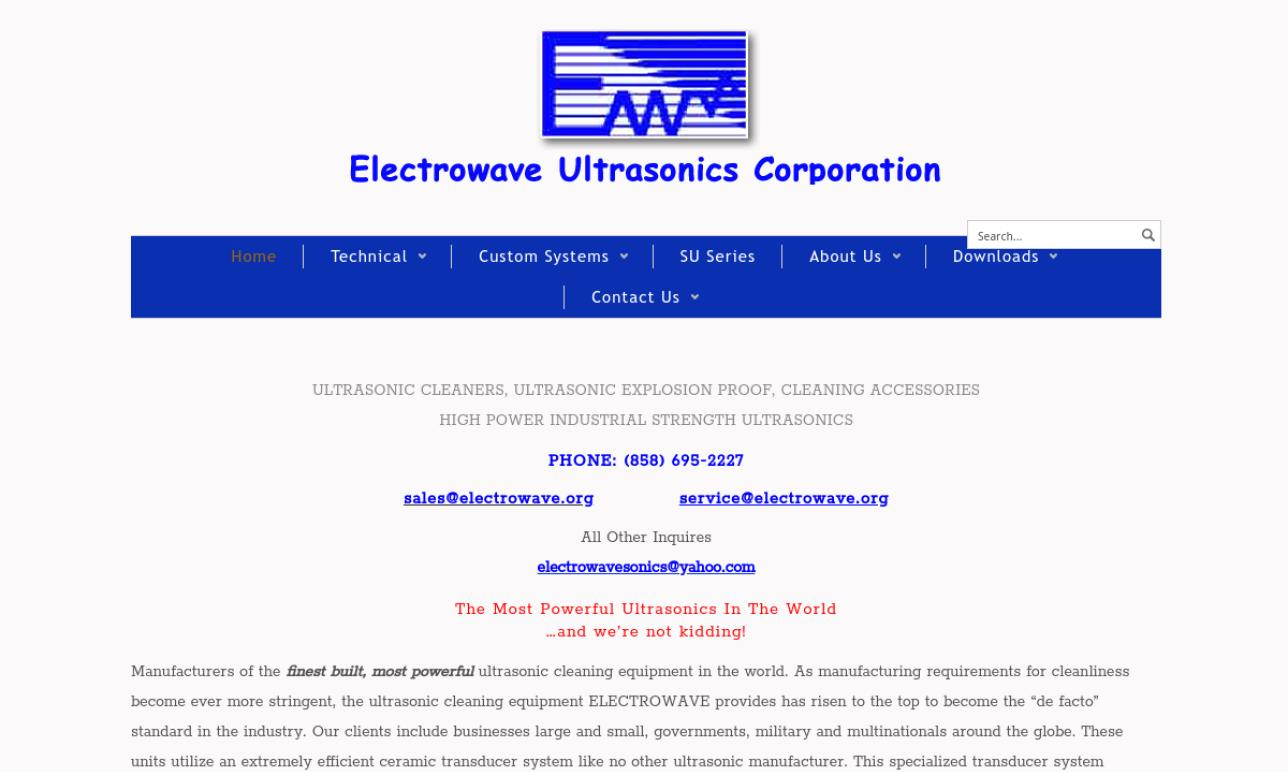 Electrowave Ultrasonics Corporation