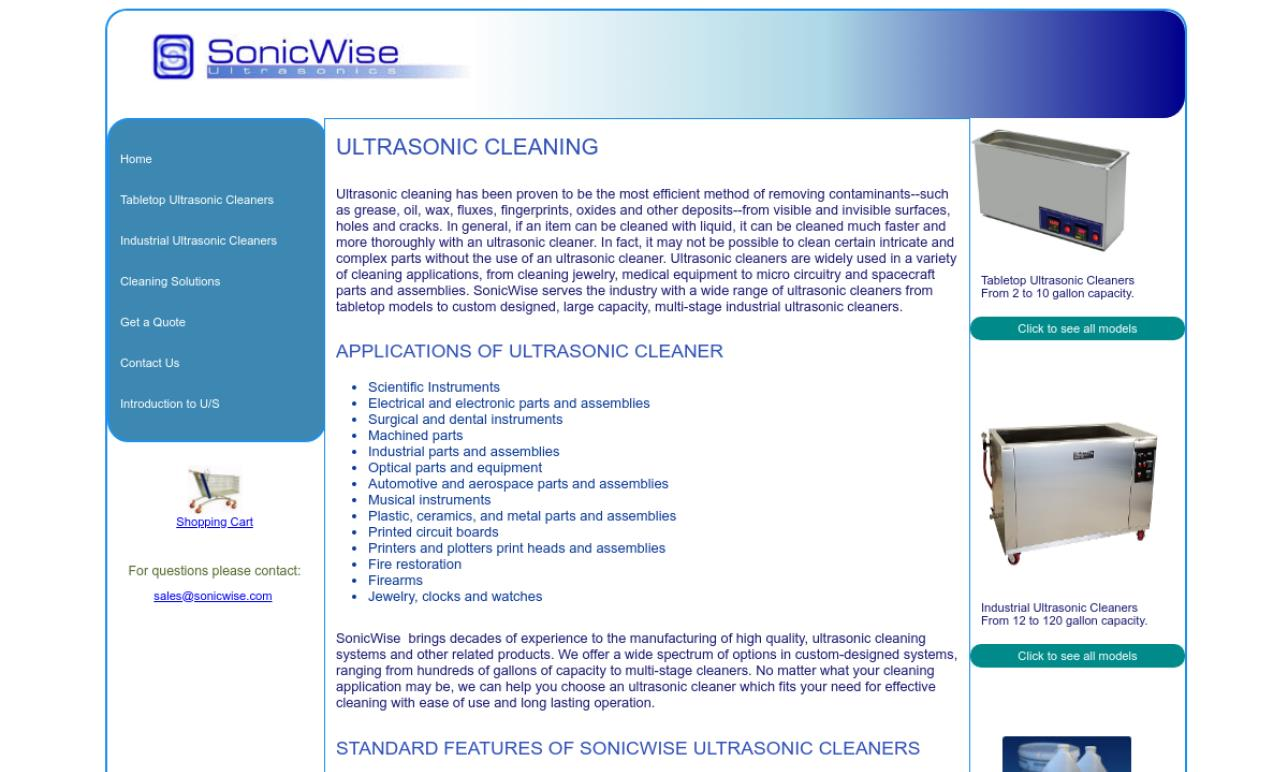 SonicWise Ultrasonics
